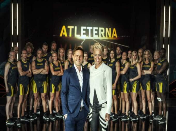 """i den nya tävlings-tv-satsningen """"Atleterna"""" ska allt från brottare till poledancers tävla i en specialbyggd arena. Foto: Carlos Norlén/SVT"""