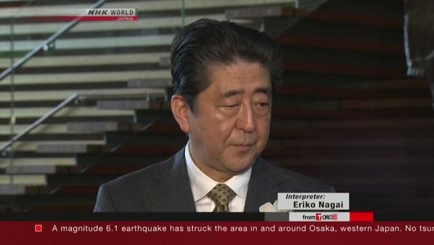 Japan drabbat av jordbävning