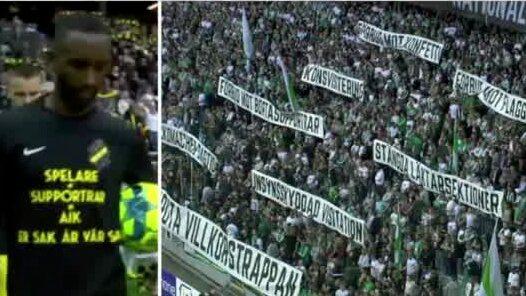 """Derbylagens stöd till fansen: """"Er sak är vår"""""""