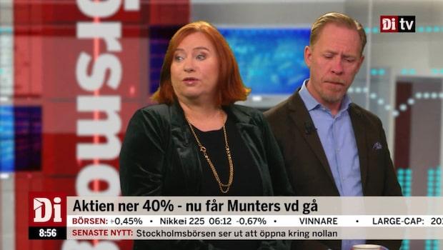 """Experten om Munters: """"Inte i det skick som priset motiverade"""""""