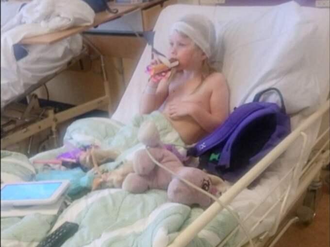 Nellie, 7, är svårt sjuk i en mystisk sjukdom.
