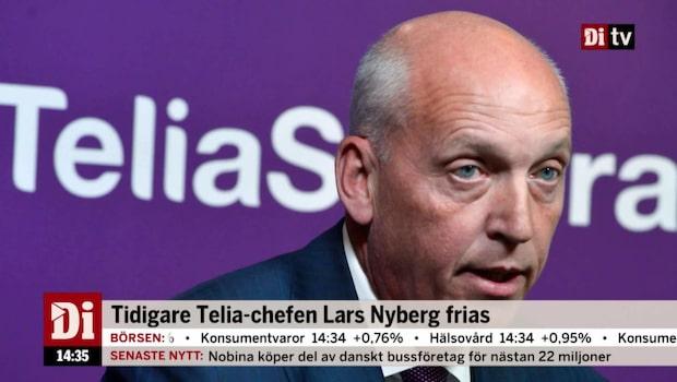 Tidigare Telia-chefen Lars Nyberg frias