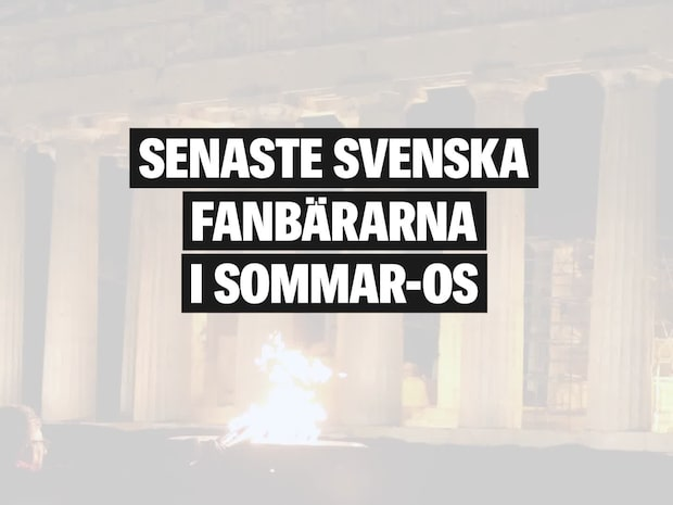 Här är de senaste svenska fanbärarna i sommar-OS