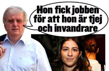 Ingemar Karlsson, generalkonsul i Istanbul, menar att Dilsa Demirbag Sten fått sitt jobb för att hon är kvinna och invandrare.