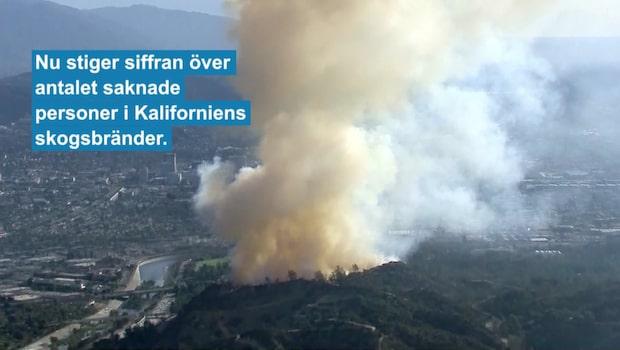 Över 1000 personer saknas efter skogsbränderna i Kalifornien