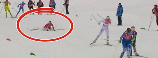 Se bilder på svt.se/sport Foto: Bild från SVT:s sändning