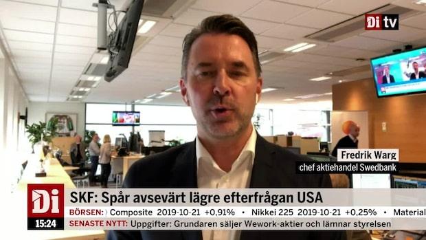 """Fredrik Warg, Swedbank, om SKF: """"Inget talar för att köpa dem just nu"""""""
