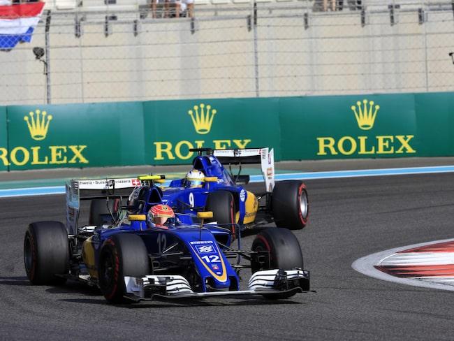 Marcus Ericsson i sin bil från Sauber-stallet.