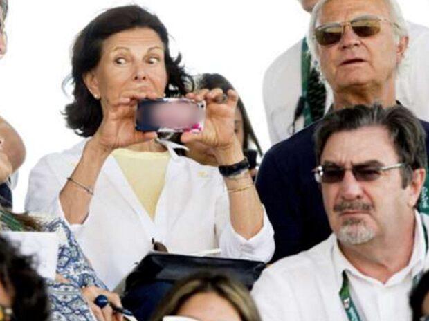 Här är Silvias piffiga mobilskal - med en prinsessa på
