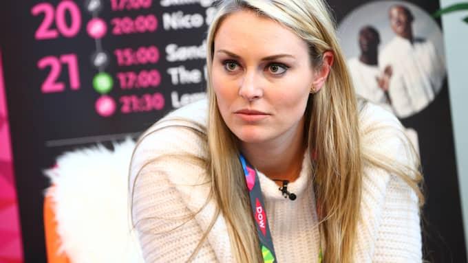 Lindsey Vonn var inte nöjd med Anna Swenn-Larssons agerande. Foto: GEPA PICTURES/ CH. KELEMEN / GEPA PICTURES BILDBYRÅN