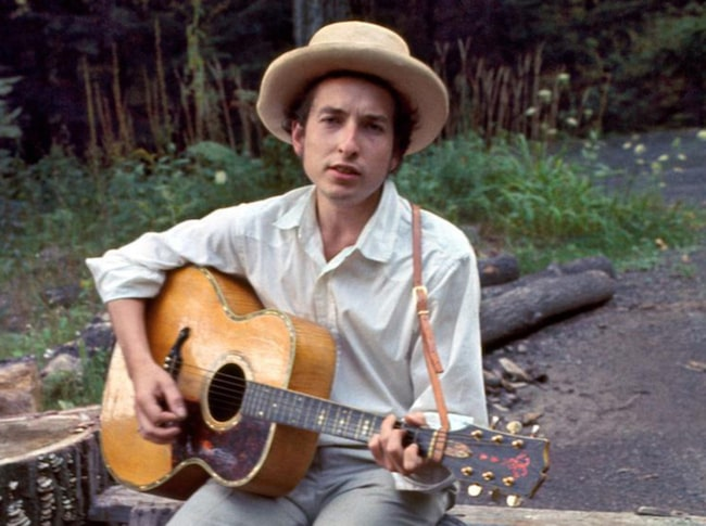 Bob Dylan i sitt hem i Woodstock, New York 1968.