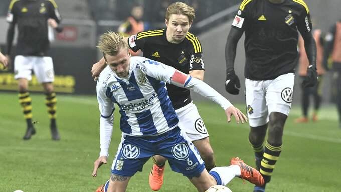 Sebastian Eriksson och Blåvitt föll tungt, tungt mot AIK. Foto: CLAUDIO BRESCIANI/TT / TT NYHETSBYRÅN