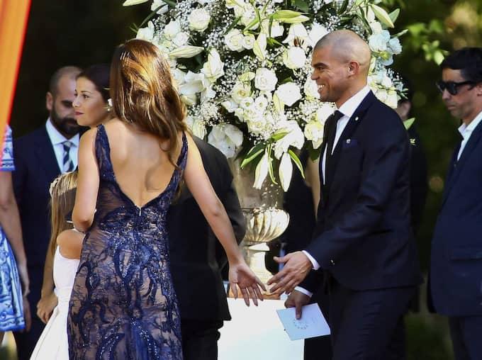 Portugal och Real Madrids stjärnback Pepe på Jorge Mendes bröllop Foto: All Over Press