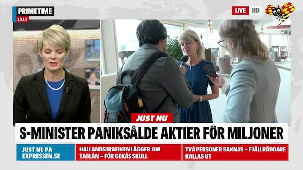 Anna Hallberg (S) paniksålde aktier för miljoner