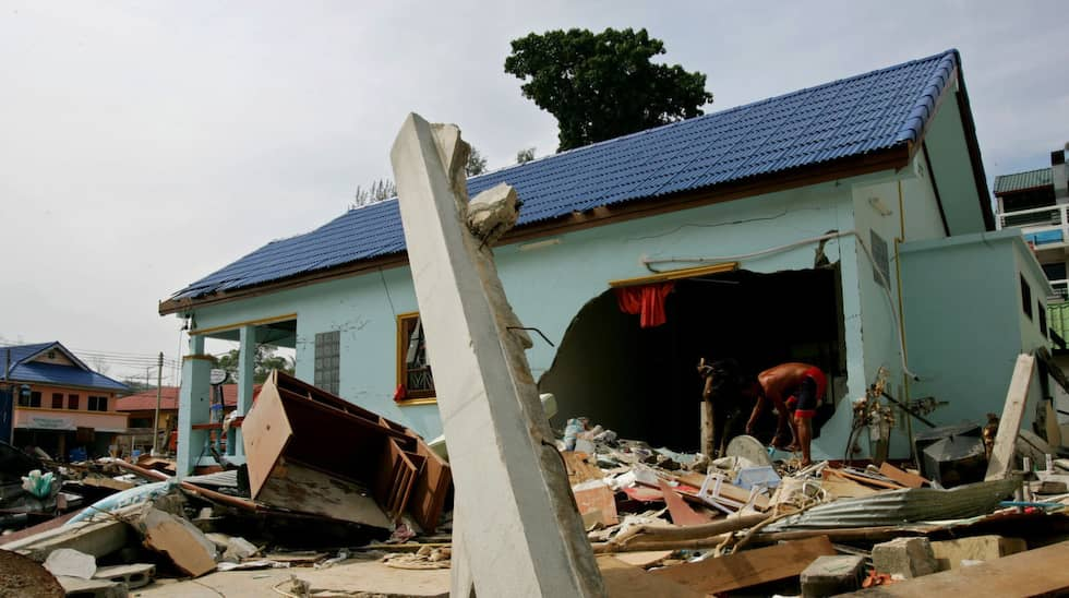 Orten Kamala efter Tsunamin. Foto: Vincent Yu / AP