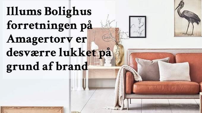 Företaget meddelar på sin hemsida att butiken i centrala Köpenhamn håller stängt.