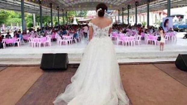 Brudgummen rymde från det livesända bröllopet