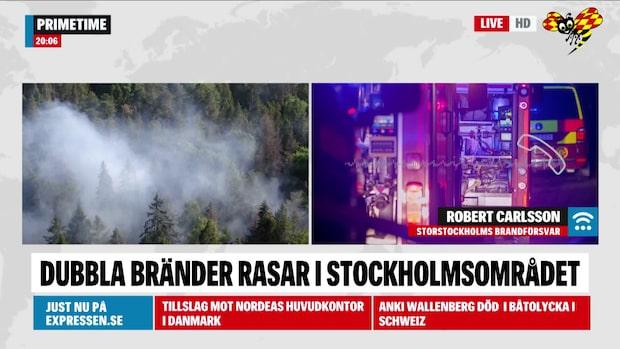 """Brandförsvaret: """"Ingen från personalen är skadad"""""""