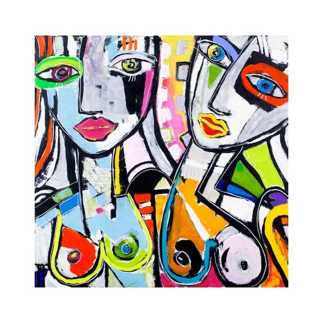 """Original! Det finns bara ett exemplar av tavlan """"Groovy glance"""" av Camilla Lundén. Först till kvarn!"""