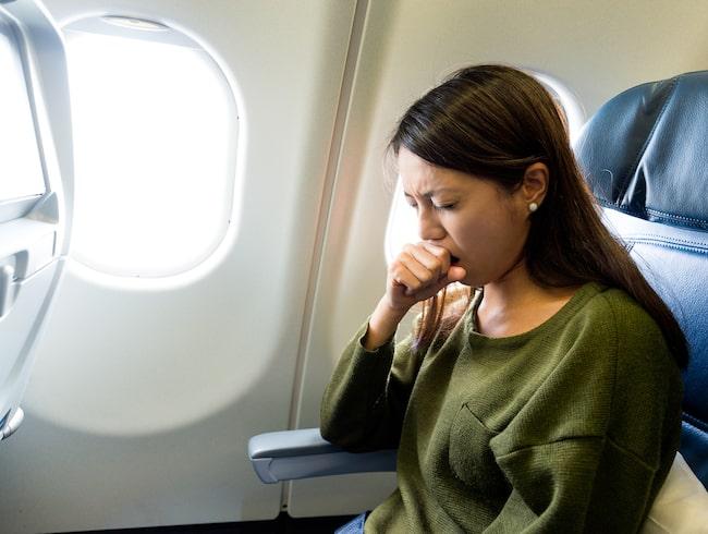 Nästan varannan resenär är rädd för baciller och virus som sprids via luften.