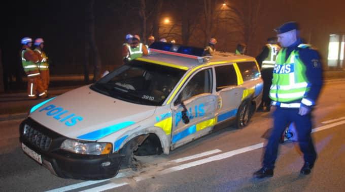 Under 2015 kostade kvaddade bilar och plåtskador polismyndigheterna i Sverige runt 57 miljoner kronor. Foto: Andreas Öberg / Photomedia