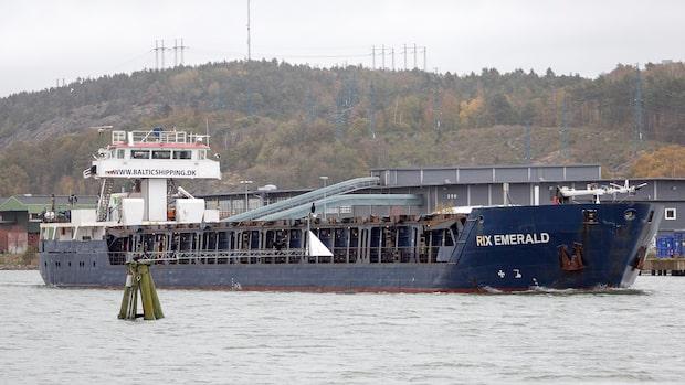 Cypriotiskt fartyg skenar på Göta Älv
