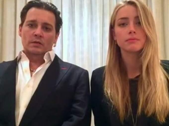 Johnny Depp och Amber Heard ber om ursäkt.