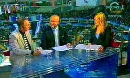 Ny profil i rutan. Experterna är gamla bekanta, men studioankaret Ana Brolin är okänd för de flesta tittare. Foto: TV3