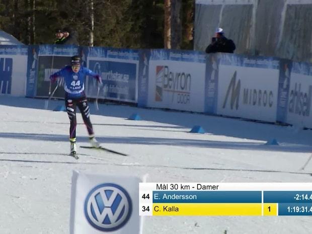 Här tar Ebba Andersson tredje SM-guldet