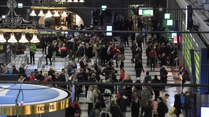 SJ:s tåg drabbades av störningar och förseningar under onsdagskvällen. Foto: Jonas Ekströmer/TT