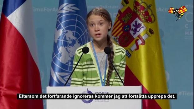 """Greta Thunberg: """"Vi har inte tid att lämna vetenskapen utanför"""""""