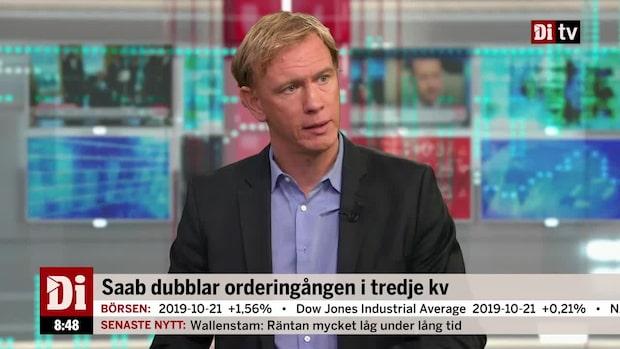 Saab dubblar orderingången i tredje kvartalet