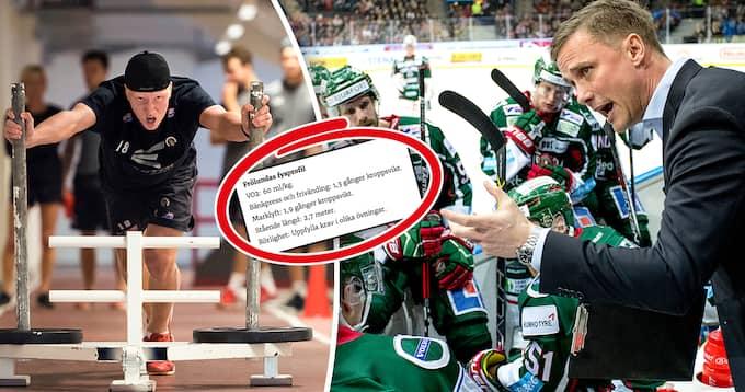 Supertalangen Rasmus Dahlin bygger upp kroppen inför kommande säsong. Foto: BILDBYRÅN & TT