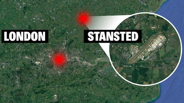 Plan tvingades nödlanda efter bombhot