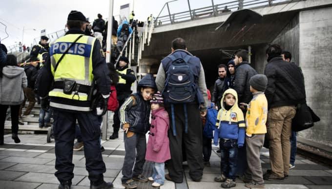 Abdul Alzrak, 41, från Syrien och hans familj var några av dem som blev avhysta från tåget från Köpenhamn till Malmö. Foto: Anna-Karin Nilsson / ANNA-KARIN NILSSON EXPRESSEN