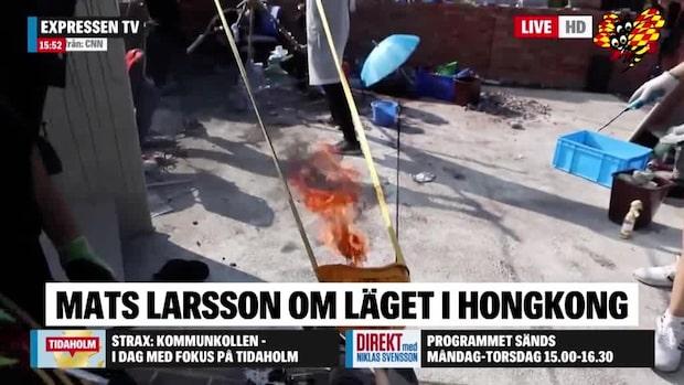 """Mats Larsson: """"Intensiva sammandrabbningar i området"""""""