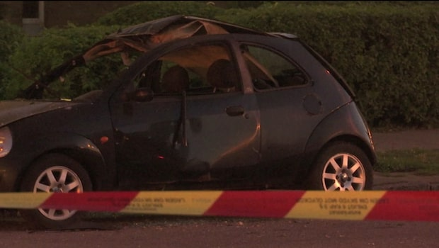 """Bil exploderade på Rosengård - """"Har skett en detonation"""""""