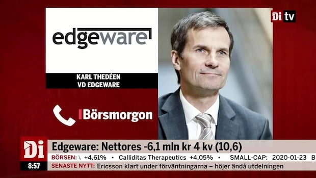 """Edgewares vd: """"Ett väldigt, väldigt svagt år"""""""