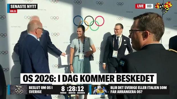 Kronprinsessparet ska hjälpa till att ta OS till Sverige