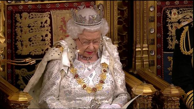 Drottning Elizabeth höll tal under parlamentets öppnande