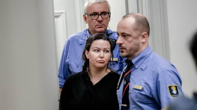 Johanna Möller första dagen i hovrätten. Foto: ALEX LJUNGDAHL