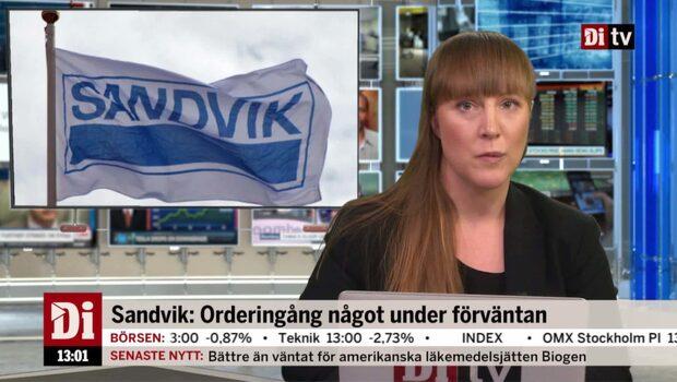 Di Nyheter 13.00 23 oktober - Sandvik upp efter rapport