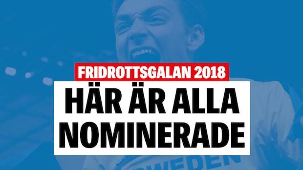 Alla nominerade till Friidrottsgalan 2018