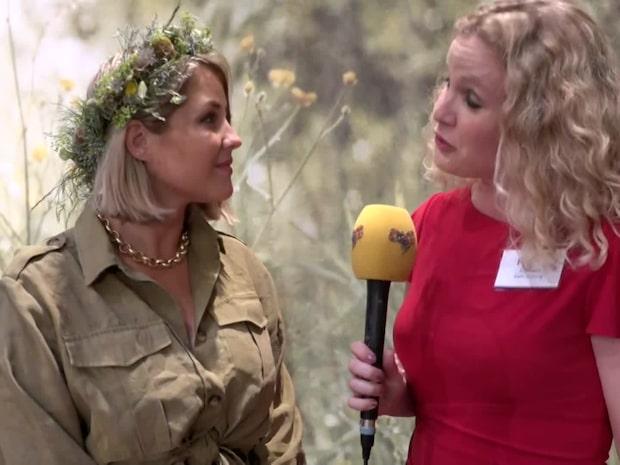 Molly Sandén inför hennes sommarprat i Sveriges radio