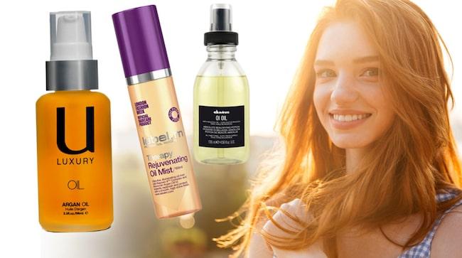 vilka oljor är bra för håret