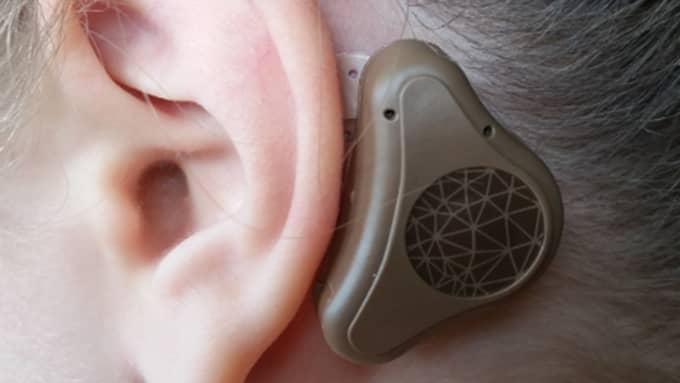 Den nya hörapparaten har provats på ett 30-tal barn med hörselproblem på en klinik i England. Foto: Otorix