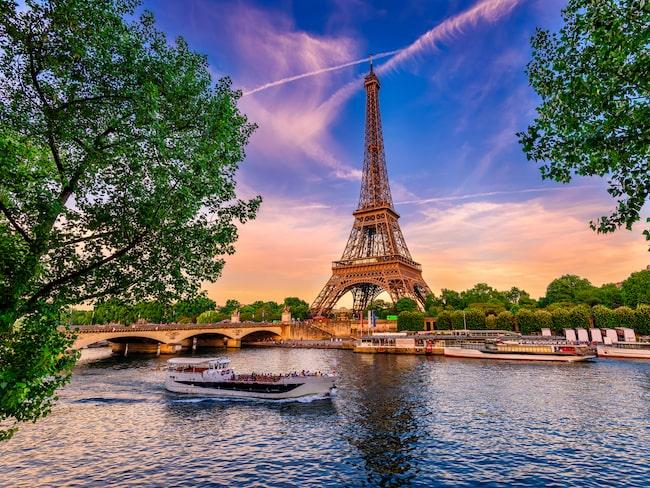 Koldioxidutsläppet på samma resa, London–Paris tur och retur, är 33 kilo med tåg och 200 kilo med flyg.