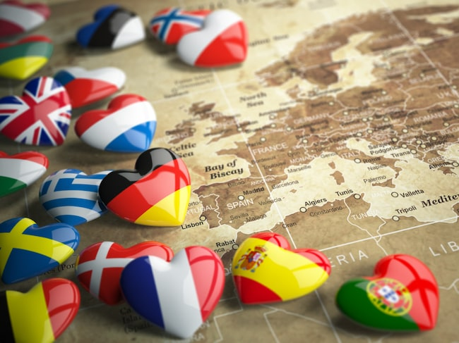 Av världens 199 länder är de tio i topp alla europeiska.