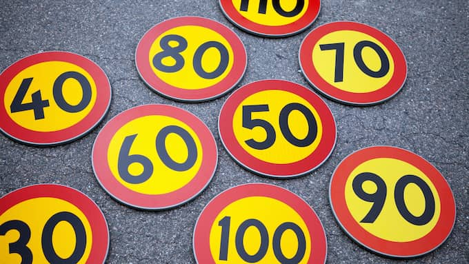 I Sverige räknar Trafikverket med att 100-150 liv skulle kunna sparas årligen om alla höll hastigheten. Foto: SANNA DOLCK / KVP