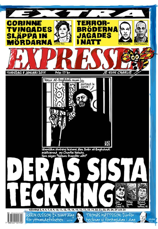 Expressen i dag.